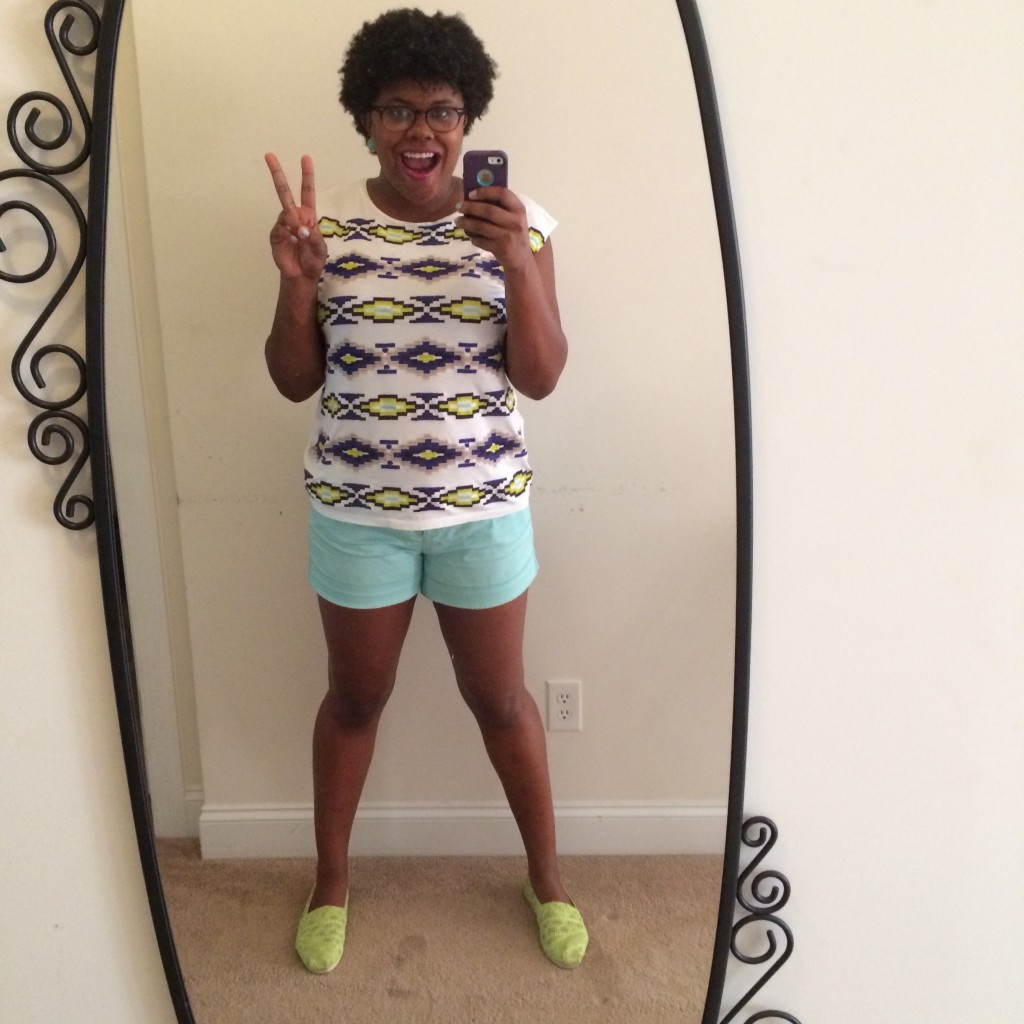 This is a total #TBT to last summer when I rocked the bright colored shorts!