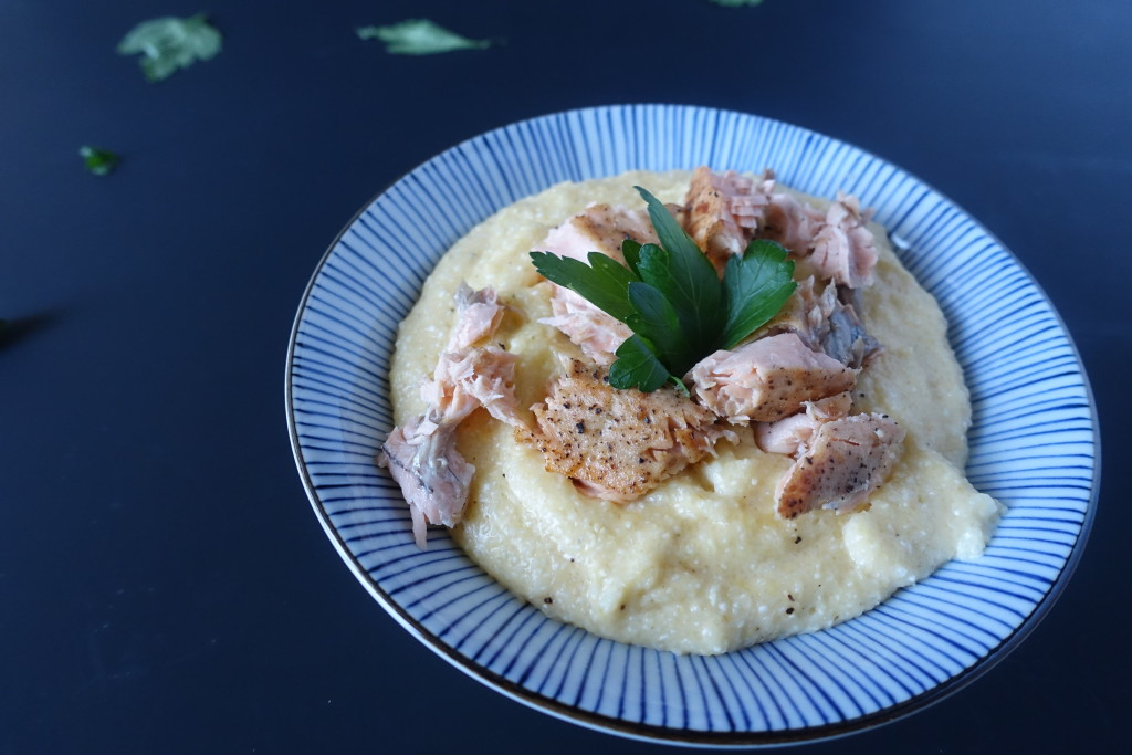 Salmon and Cheesy Grits | www.thegingermarieblog.com