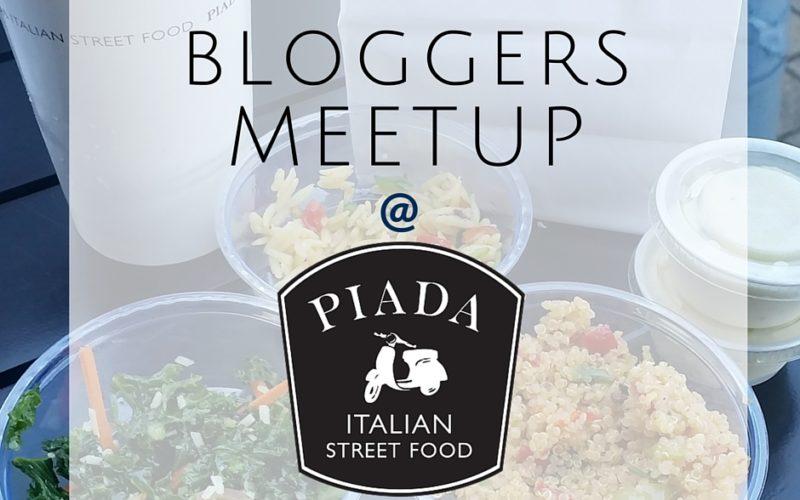 Bloggers Workshop at Piada Italian Street Food (Giveaway)