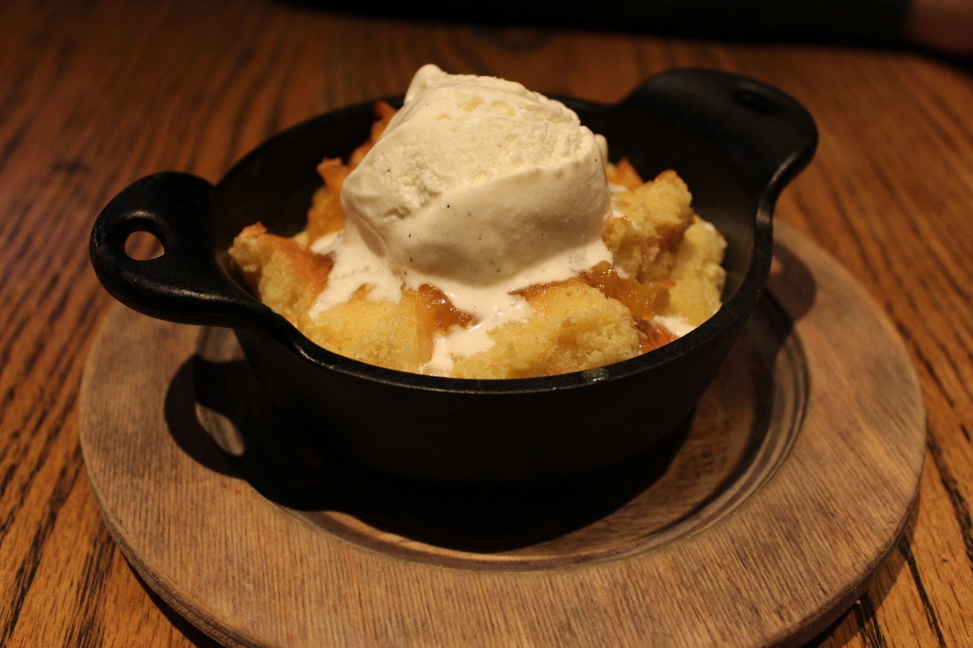 Warm Doughtnut and Maple Bread Pudding