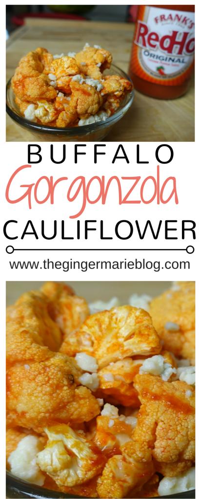 Buffalo Gorgonzola Cauliflower | www.thegingermarieblog.com