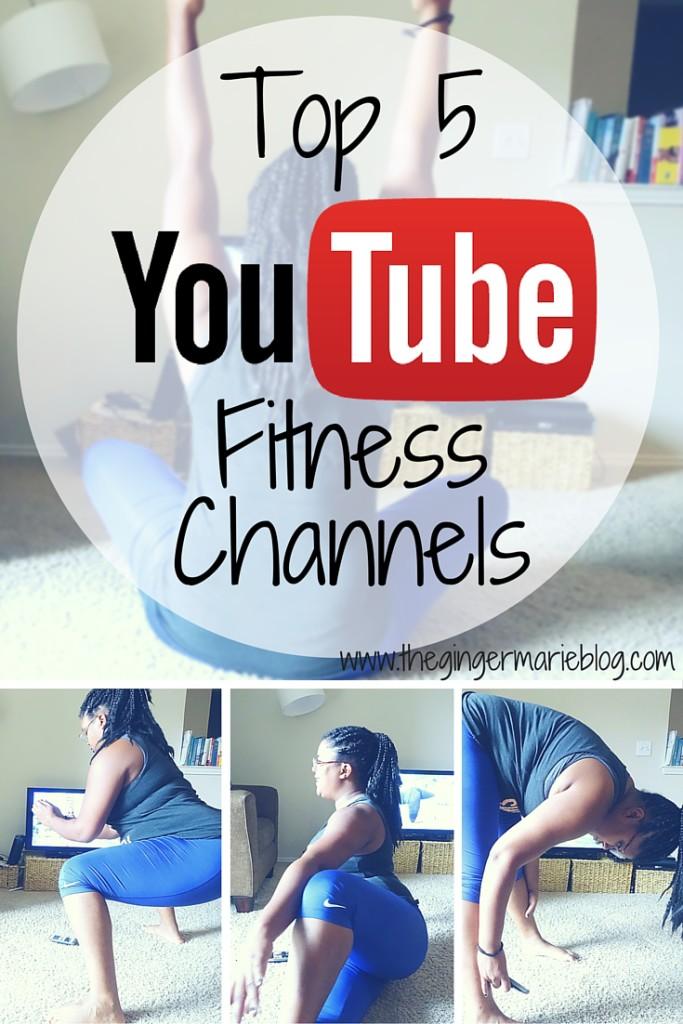 Top 5 YouTube Fitness Channels | www.thegingermarieblog.com