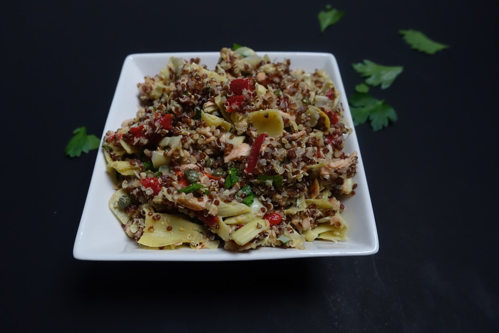 Salmon & Artichoke Salad | www.thegingermarieblog.com