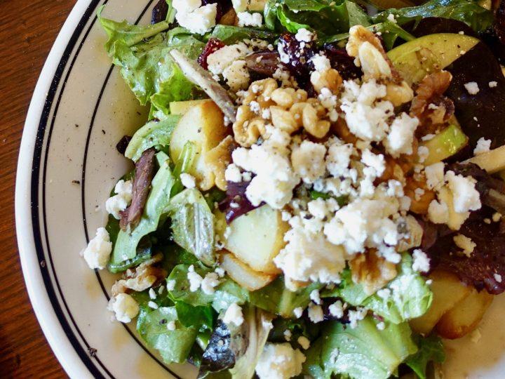Apple Nut Salad With Roasted Potatoes