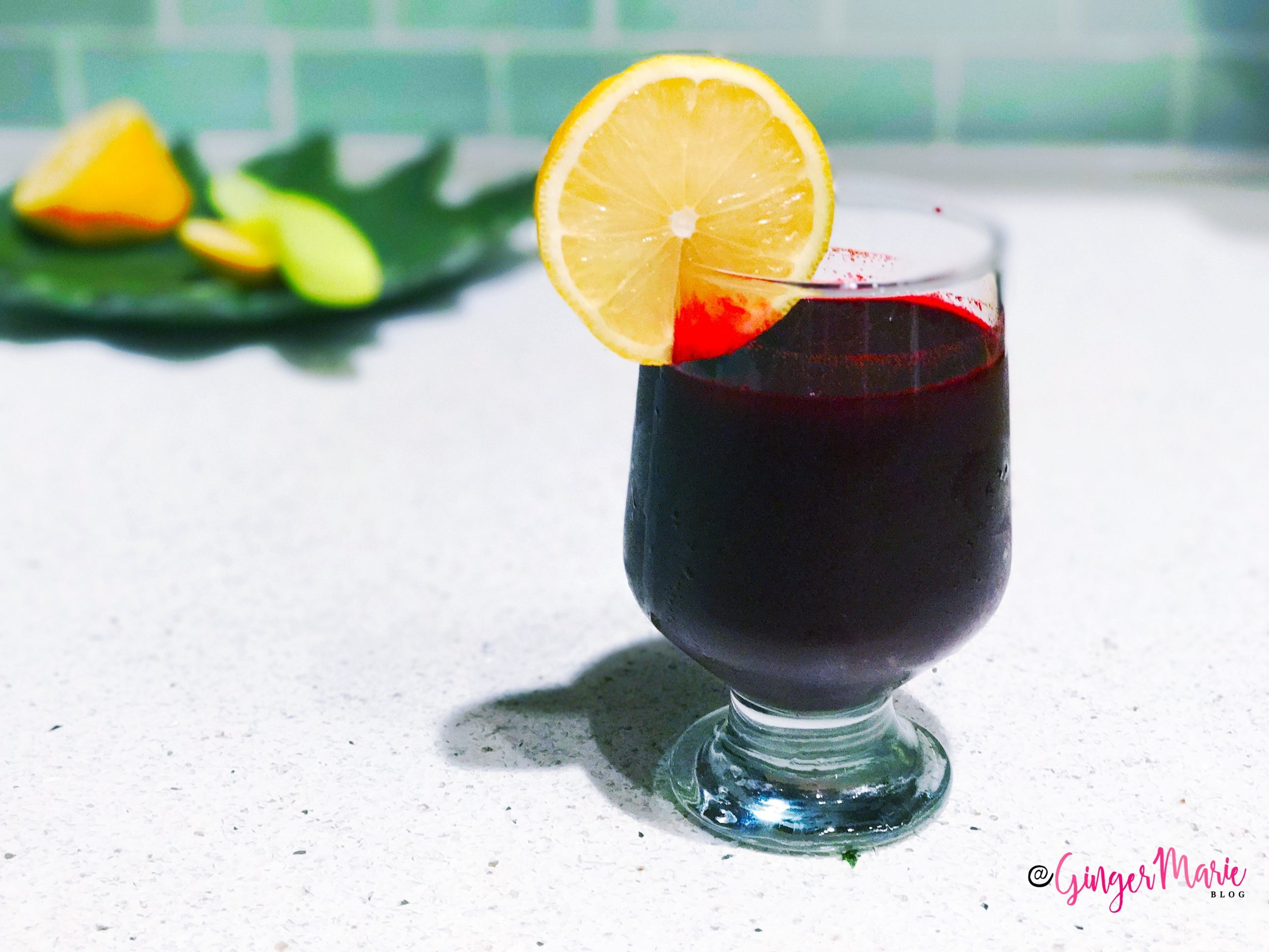 You Have To Try This Pear Apple Beet Juice | www.thegingermarieblog.com