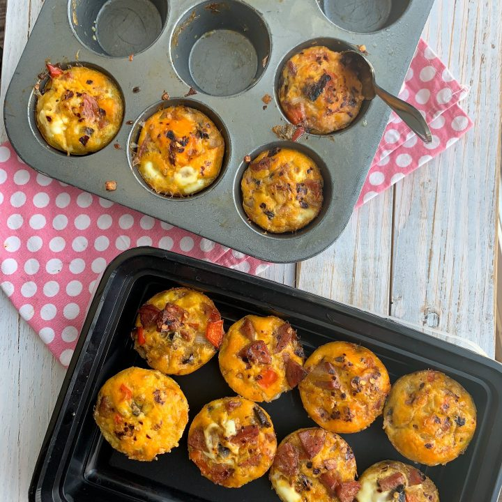 Sausage + Red Pepper Egg Muffins