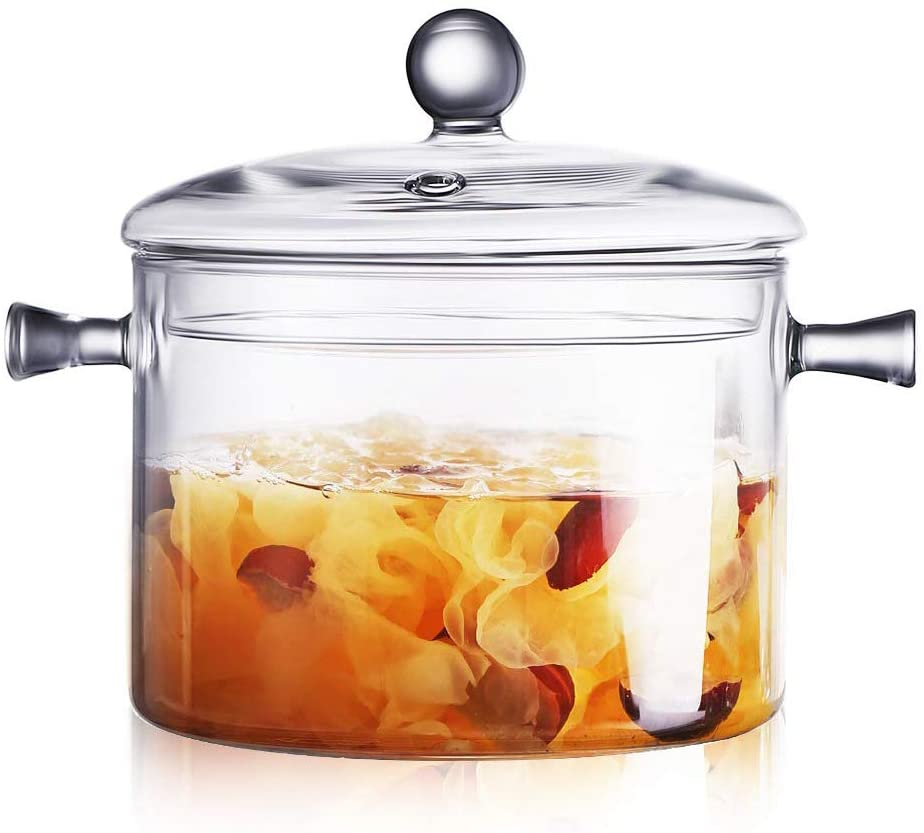 Glass Saucepan with Cover