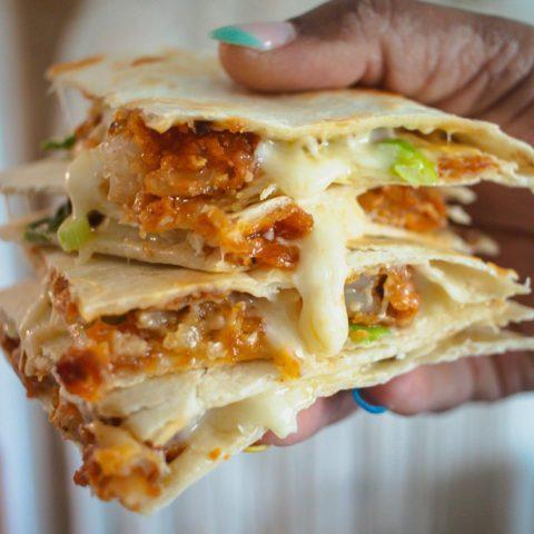 Nashville Hot Shrimp Quesadillas